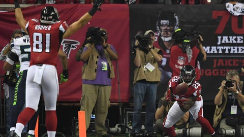 Divisional Round: Ryan to Tevin Coleman for the final 14 yards