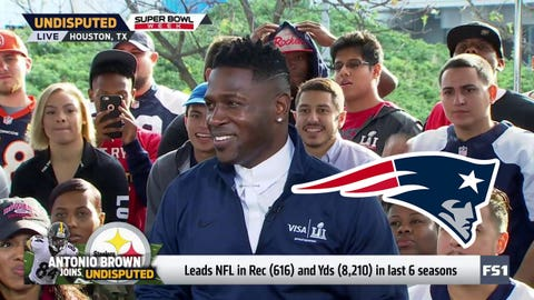 Antonio Brown, Steelers WR: Patriots