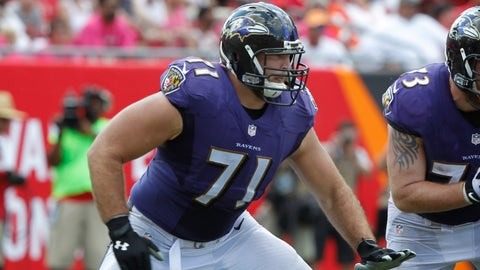 Right tackle: Ricky Wagner, Ravens