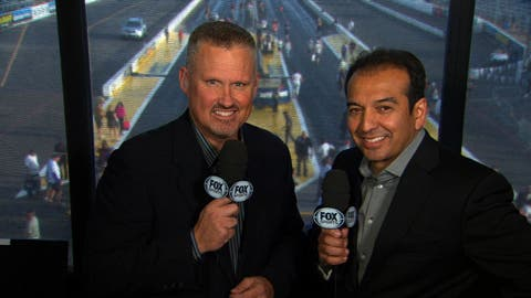 Dave Rieff (L) and Tony Pedregon (R) return to the booth for the 2017 NHRA Mello Yello Drag Racing Series season.