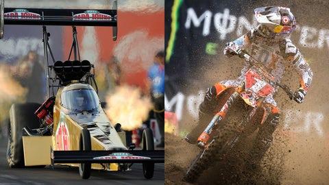 Photos courtesy: NHRA and Supercross