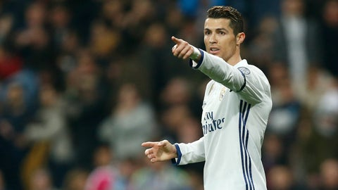 Left forward: Cristiano Ronaldo