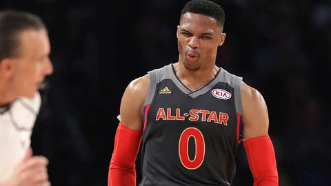 T-2. Russell Westbrook, Oklahoma City Thunder: $26,540,100