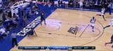 Marcus Foster with the nice dish vs. the Georgetown Hoyas