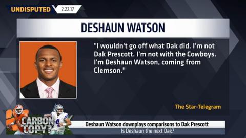Deshaun Watson on comparisons to Dak Prescott