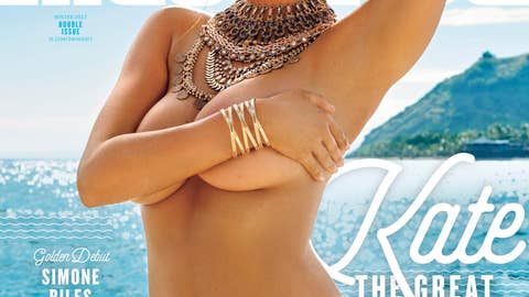 Upton is on the cover of the SI Swimsuit issue for the third time, after landing the cover in 2012 and 2013