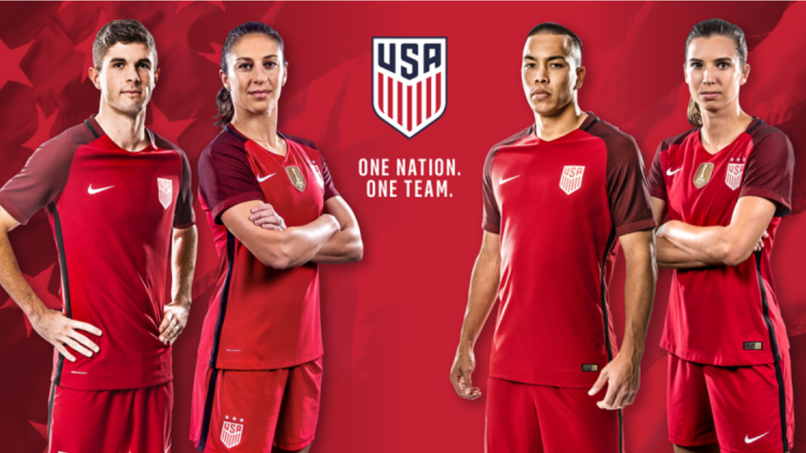 online store 5af92 60734 The USMNT and USWNT have a brand new, very red kit | FOX Sports