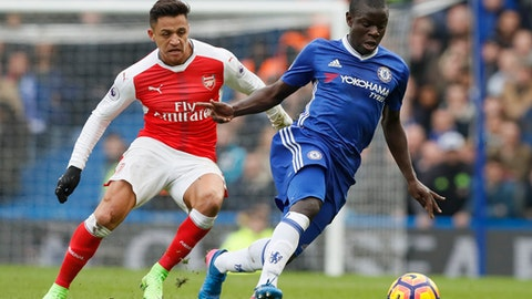 N'Golo Kante joins Arsenal in 2015 instead of Leicester