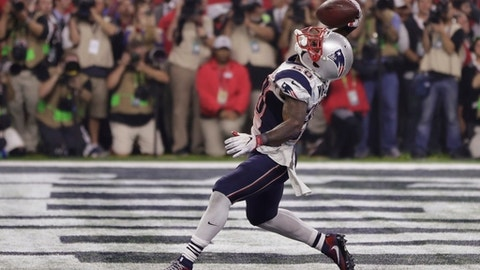 Most receptions in a single Super Bowl: 14, James White