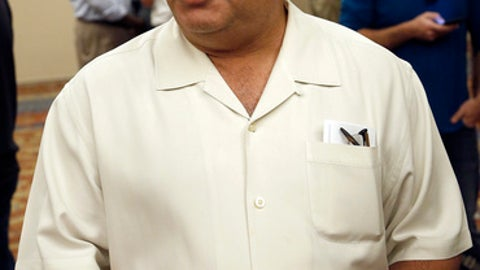 FILE - In this Nov. 9, 2016, file photo, Detroit Tigers general manager Al Avila talks to reporters during baseball's annual general managers meeting in Scottsdale, Ariz. The Tigers were willing to cut payroll, but they did not want to face the dire consequences of gutting their roster. That is Avila's explanation for why his team's offseason became such a quiet one. (AP Photo/Ross D. Franklin, File)