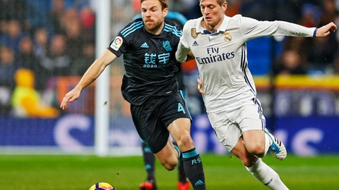 Center midfield: Asier Illarramendi (Real Sociedad)