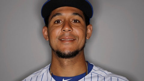 This Feb 21, 2017 file photo show Chicago Cubs' Jon Jay as he juggles during the team's photo day in Mesa, Ariz. (AP Photo/Morry Gash)