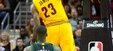 LeBron shakes off strep throat, leads Cavs past Bucks 102-95