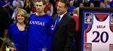 Kansas coach Bill Self bidding farewell to his senior son