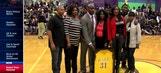 Pelicans Live: Robert Pack's HS jersey retired