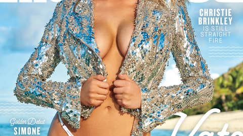 There are three separate covers for SI Swimsuit 2017, all featuring Upton