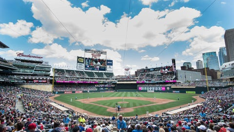 Jul 2, 2016; Minneapolis, MN, USA;  A general view at Target Field between the Minnesota Twins and the Texas Rangers. Mandatory Credit: Jeffrey Becker-USA TODAY Sports