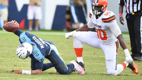 October 22: Tennessee Titans at Cleveland Browns, 1 p.m. ET