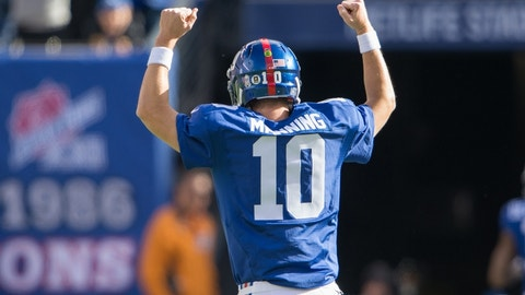 October 15: New York Giants at Denver Broncos, 8:30 p.m. ET
