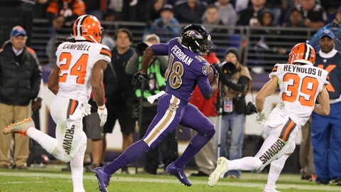 September 17: Cleveland Browns at Baltimore Ravens, 1 p.m. ET