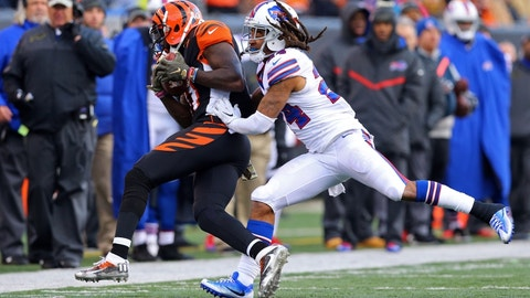 October 8: Buffalo Bills at Cincinnati Bengals, 1 p.m. ET