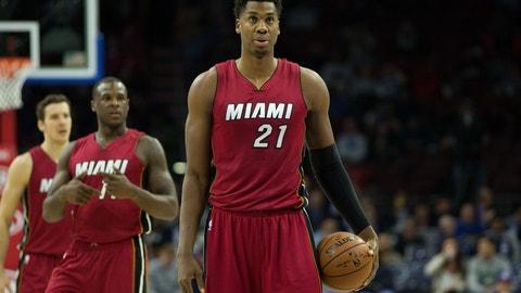 C, third team: Hassan Whiteside, Miami Heat