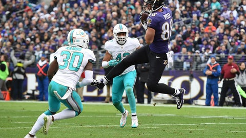 October 26: Miami Dolphins at Baltimore Ravens, 8:25 p.m. ET