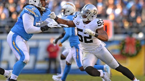 December 31: Oakland Raiders at Los Angeles Chargers, 4:25 p.m. ET