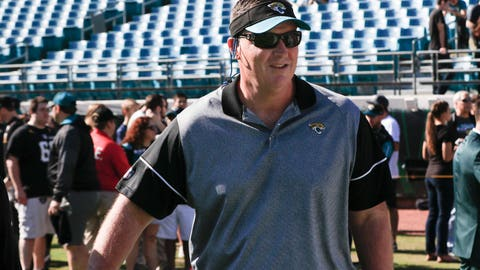 Dec 24, 2016; Jacksonville, FL, USA;  Jacksonville Jaguars interim head coach Doug Marrone walks the field before an NFL Football game against the Tennessee Titans at EverBank Field. Mandatory Credit: Reinhold Matay-USA TODAY Sports