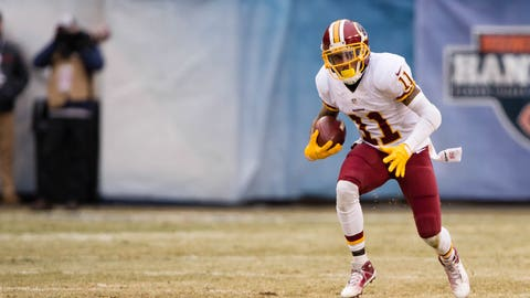 Dec 24, 2016; Chicago, IL, USA; Washington Redskins wide receiver DeSean Jackson (11) in action during the game against the Chicago Bears at Soldier Field. The Redskins defeat the Bears 41-21. Mandatory Credit: Jerome Miron-USA TODAY Sports