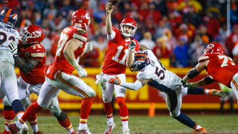 October 30: Denver Broncos at Kansas City Chiefs, 8:30 p.m. ET
