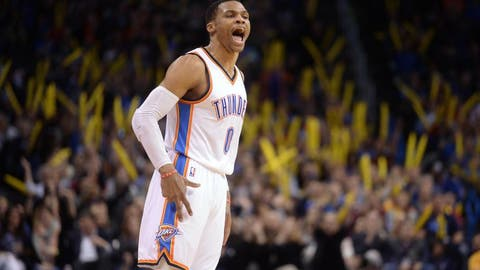 Westbrook's insane usage rate is responsible for his stats