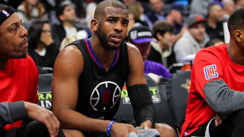 Jan 6, 2017; Sacramento, CA, USA; Los Angeles Clippers guard Chris Paul (3) during the third quarter against the Sacramento Kings at Golden 1 Center. The Clippers defeated the Kings 106-98. Mandatory Credit: Sergio Estrada-USA TODAY Sports