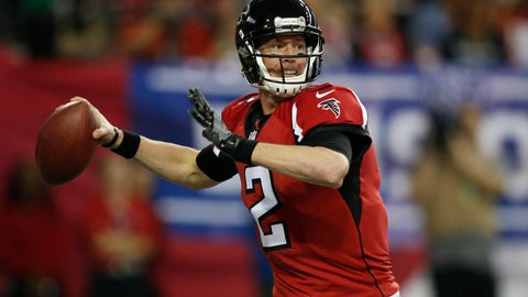 Jan 14, 2017; Atlanta, GA, USA; Atlanta Falcons quarterback Matt Ryan (2) throws against the Seattle Seahawks during the second quarter in the NFC Divisional playoff at Georgia Dome. Mandatory Credit: Brett Davis-USA TODAY Sports