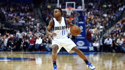 Feb 9, 2017; Dallas, TX, USA; Dallas Mavericks guard Yogi Ferrell (11) in action during the game against the Utah Jazz at American Airlines Center. Mandatory Credit: Kevin Jairaj-USA TODAY Sports