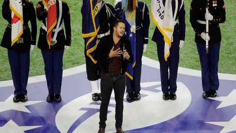 Luke Bryan comes in for the 'under' crowd of the anthem