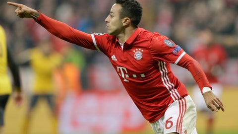Thiago Alcantara running the midfield