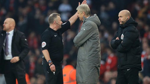 Arsene Wenger won't even be in the technical area
