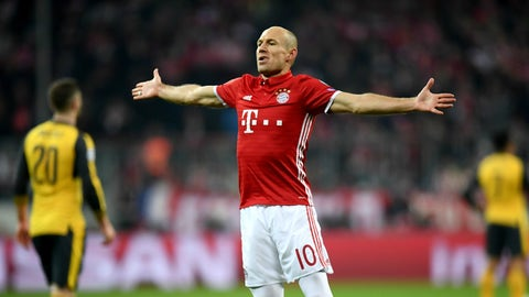 Arjen Robben (Bayern 5-1 Arsenal) round of 16 first leg, Feb. 15, 2017