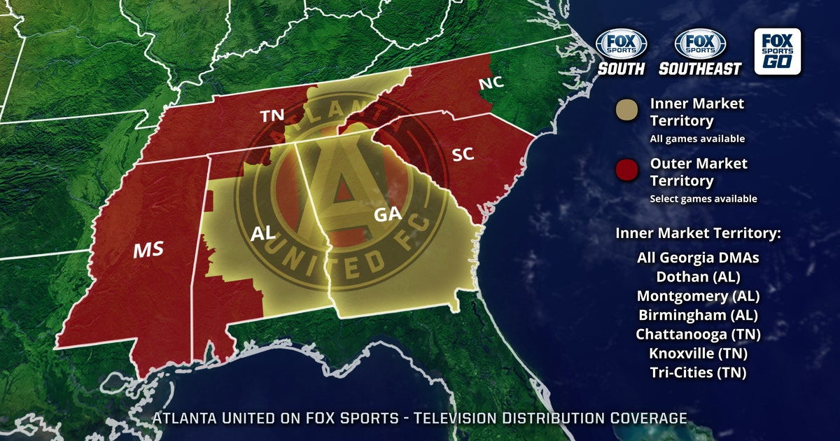 Atlanta United Coverage Map | FOX Sports on