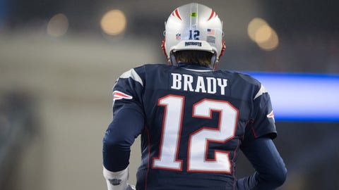 New England Patriots quarterback Tom Brady (12) during warm ups prior to the AFC Championship NFL football game against the Pittsburgh Steelers at Gillette Stadium, Sunday, Jan. 22, 2017 in Foxborough, Ma.  The Patriots defeated the Steelers 36-17. (Perry Knotts via AP)