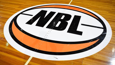 CAIRNS, AUSTRALIA - FEBRUARY 05:  Seen is the National Basketbal League logo on the court before the start of the round 18 NBL match between the Cairns Taipans and the Perth Wildcats at the Cairns Convention Centre on February 5, 2017 in Cairns, Australia.  (Photo by Ian Hitchcock/Getty Images)