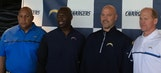 Chargers coach Anthony Lynn introduces coordinators at StubHub Center