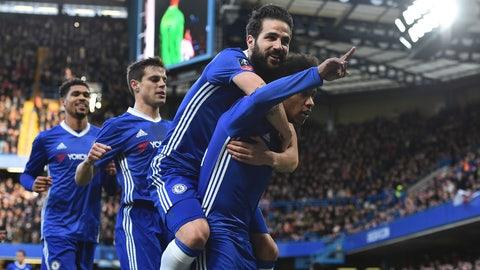Chelsea - 75 points, 6 matches left
