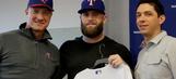 PHOTOS: Texas Rangers welcome back Mike Napoli