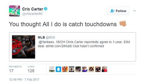 Cris Carter, former Vikings receiver