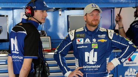 What do you think about Dale Earnhardt Jr.'s so-so finishes? And do you think this might be his final year in Cup? — Kim