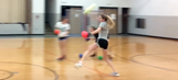 This high school softball pitcher may be the world's scariest dodgeball player
