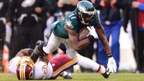 October 23: Washington Redskins at Philadelphia Eagles, 8:30 p.m. ET