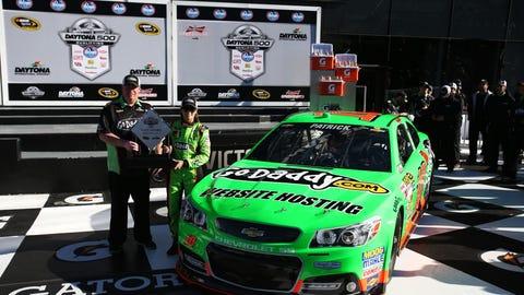 2013, Patrick wins Daytona 500 pole